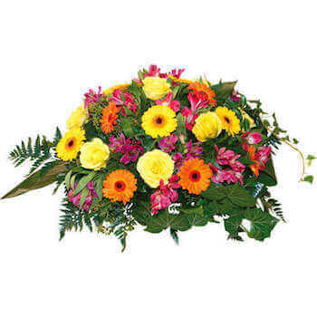 Composition de fleurs funéraire Opriment