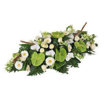 Raquette de fleurs de deuil Chatoîement